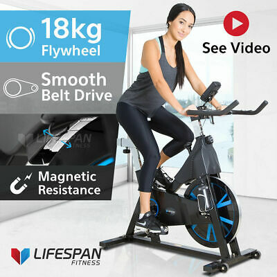 Commercial Spin Bike - Lifespan SM400 Exercise Fitness Home Gym Quiet Bicycle