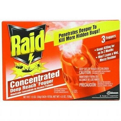 Raid 820421 4-Count Concentrated Deep Reach Fogger, New