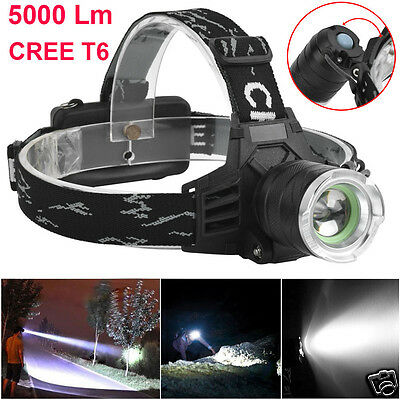 5000 Lm CREE XM-L T6 LED Headlamp Headlight Flashlight Head Light Lamp Durable