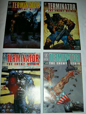 "Terminator ""the Enemy Within"" Complete 4 Issue Mini Series. Dark Horse.1991"