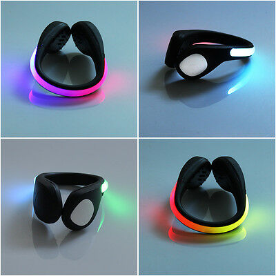 Outdoor Night LED Colorful luminous Shoes Clip Light Safety Runners Jogging 1Pc