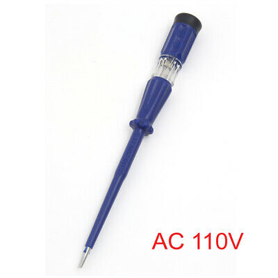 Blue Electrical Test Pen Screwdriver Voltage Tester Power Detector AC 110V