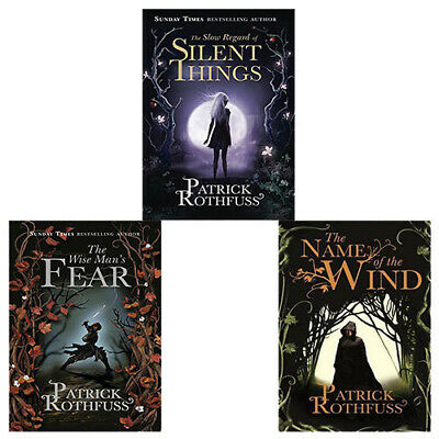 Kingkiller Chronicle Series Patrick Rothfuss 3 Books collection Set NEW PB