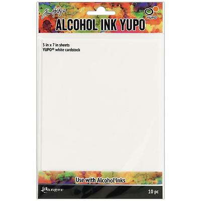 "Tim Holtz Alcohol Ink Yupo Paper - 5x7"" White - Pack of 10"