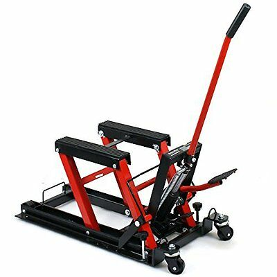 680Kg Motorcycle Bike Lift ATV Jack 1500LB low profile Secure Straps include