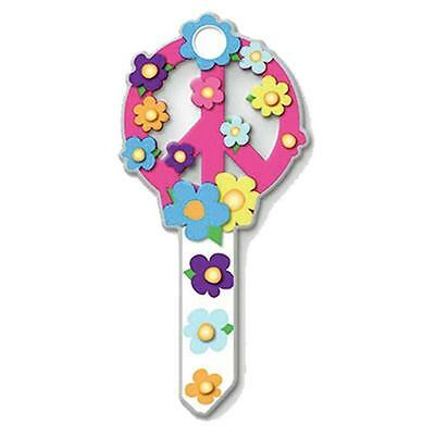 Lucky Line B104K KW1, Peace Sign Key Blank, Pack of 5