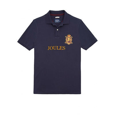Joules Kingsfield Mens Classic Fit Polo Shirt, French Navy