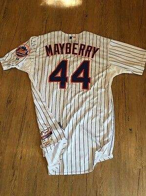 John Mayberry Jr New York Mets Game Issued Jersey