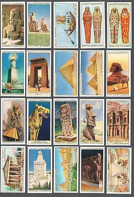 1926 Wills's Cigarettes Wonders of the Past Tobacco Cards Complete Set of 50
