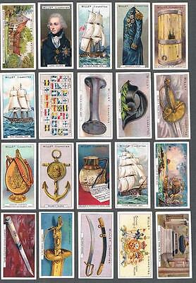 1905 Wills's Cigarettes Nelson Series Tobacco Cards Complete Set of 50