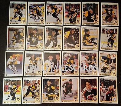 1990-91 UPPER DECK PITTSBURGH PENGUINS Select from LIST NHL HOCKEY CARDS