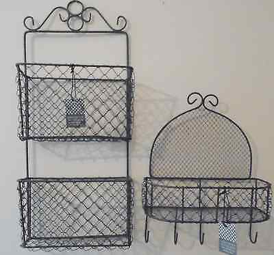 Wire Wall Mounted Storage Baskets-Vintage Style
