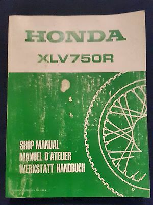 Workshop Handbook Repair manual Honda XLV 750 R