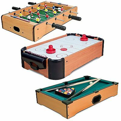 Wooden Mini Table Top Football Hockey Pool Game Kids Desktop Play Toy Xmas Gift