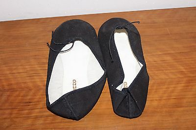 Chaussons Demi Pointes Toile Bi Semelle Repetto Noirs Taille 32,5 A 41,5