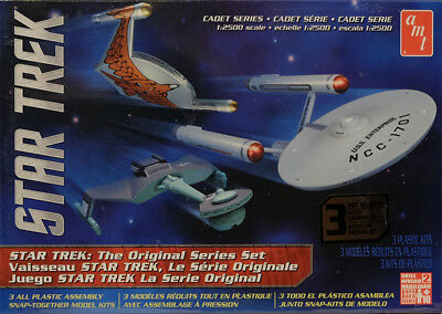 Star Trek U.S.S. Enterprise NCC-1701 TOS 3 Sets 1:2500 AMT Model Kit AMT763 USS