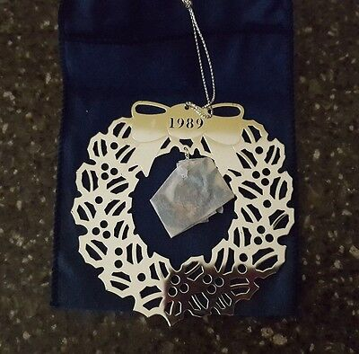 Avon 1989 Fine Collectibles Peace Dove Silverplate Christmas Ornament - NOS