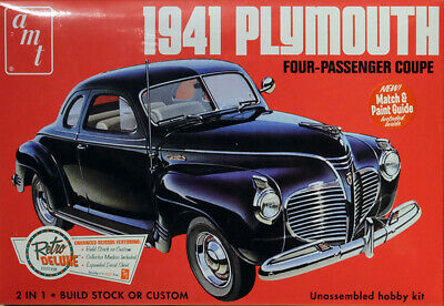 1941 Plymouth Coupe 1:25 AMT Model Kit Bausatz AMT919 Oldtimer