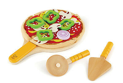 E3129 HAPE Homemade Pizza Wood Set [Playfully Delicious] Children Age 3yrs+ 31pc