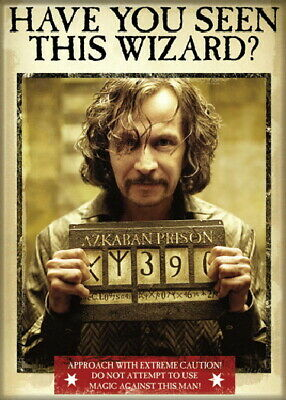 Harry Potter Sirius Black Have You Seen This Wizard? Refrigerator Magnet, UNUSED