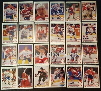 1990-91 UPPER DECK WASHINGTON CAPITALS Select from LIST NHL HOCKEY CARDS