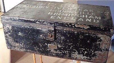 "Rare ""cadbury Of Bournville "" Antique Metal Trunk / Chest With Superb Provenance"
