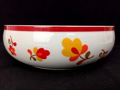 Vintage 1980s BLOCK PAPRIKA Hearthstone Vista Alegre Round Vegetable Bowl 8""