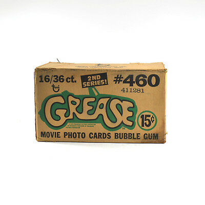 1978 Topps Grease 2nd Series EMPTY Wax Box Case #460 16/36 ct.