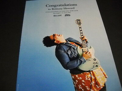 BRITTANY HOWARD Alabama Shakes a true powerhouse... 2015 PROMO POSTER AD mint
