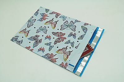 200 Bags 100 10x13 Butterfly, 100 9x12 Yellow Designer Poly Mailers Envelope Bag