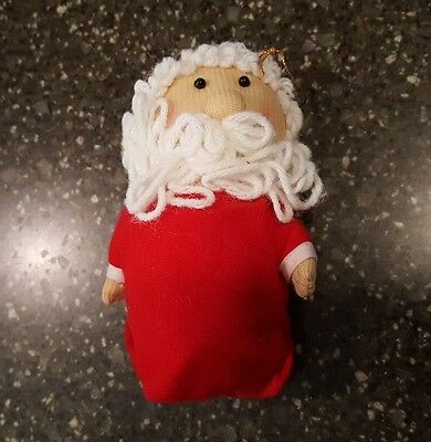 Avon Gift Collection Santa Claus Soft Sculpture Christmas Ornament