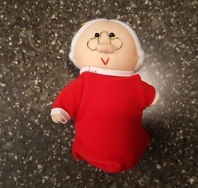 Avon Gift Collection Mrs Claus Soft Sculpture Christmas Ornament