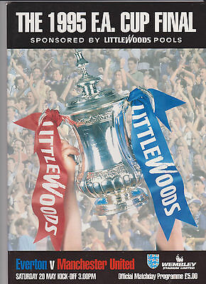 1995 F.A.Cup Final.Everton v Manchester United.