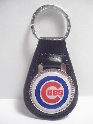 Chicago Cubs  Key Chain   Leather  Fob - New