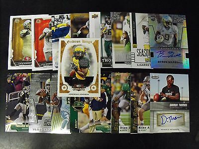 Oregon Ducks 25 Card Lot With  Autographs & Jersey