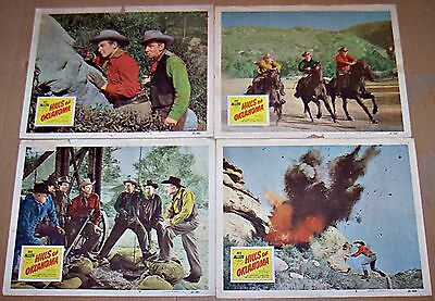 Hills Of Oklahoma (1950) Rex Allen Western Lot Of 4 Original Lobby Cards