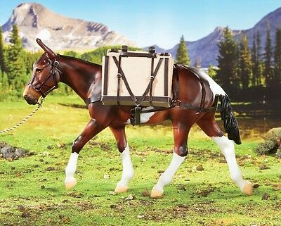 #2496 Breyer Pack Saddle w Panniers Limited Edition for Mules or Horses 1:9 NIB!