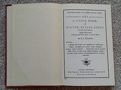Vintage 1963 ERROR Redbook 16th Edition Guide Book of United States Coins Yeoman