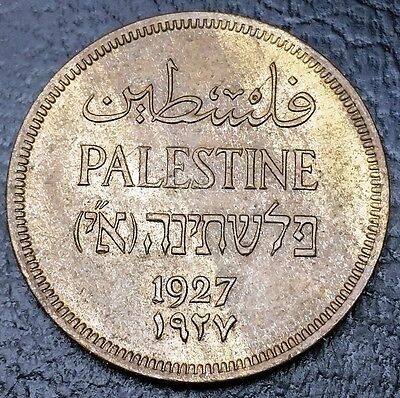 PALESTINE: 1927 1 Mil Coin, KM #1 **BU UNC CONDITION** ◢ FREE COMBINED S/H ◣