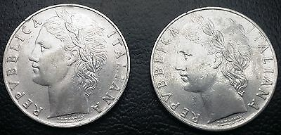ITALY: 1957 & 1958 100 Lire Coins, KM# 96.1 **HIGH GRADE** ◢ FREE COMBINED S/H ◣