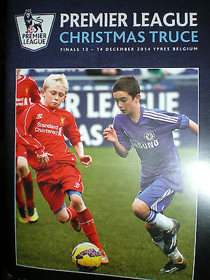 Official Pl Xmas Truce 2014 Rare Programme Chelsea Liverpool Hearts Anderlecht