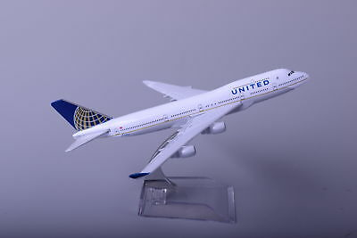 United Airlines Metal Plane Model Diecast Airlines Aeroplane Scale Desk Toy