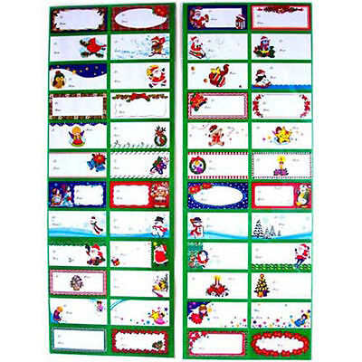Package of 96 Christmas Holiday Self Adhesive Gift Tags Labels NEW