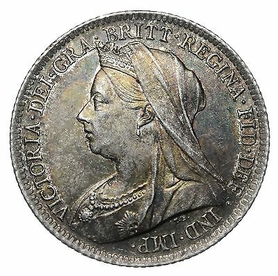 1901 Sixpence - Victoria British Silver Coin - V Nice