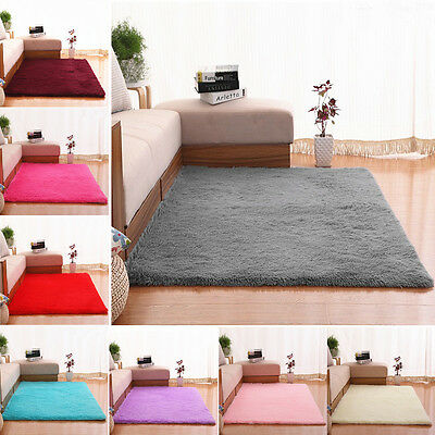Solid New Designer Shag Shaggy Floor Confetti Rug Carpet ALL SIZE Free Delivery
