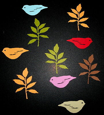 Lovely Die-cut *BIRDS & LEAVES* -   GREAT FOR SCRAPBOOKING/CARDMAKING