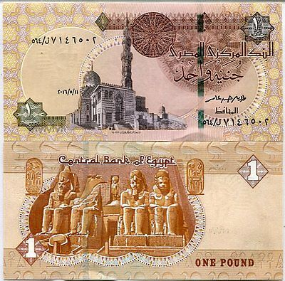 Egypt 1 Pound 2016 P New Security Thread Unc