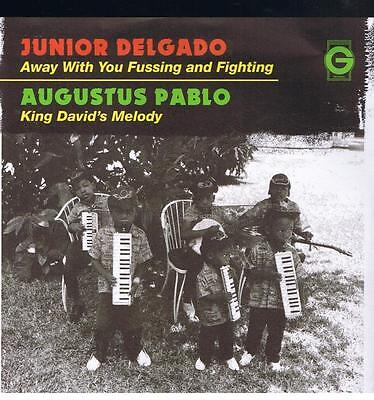 """JUNIOR DELGADO & AUGUSTUS PABLO * Away With You Fussing And Fighting 7"""" Neu"""
