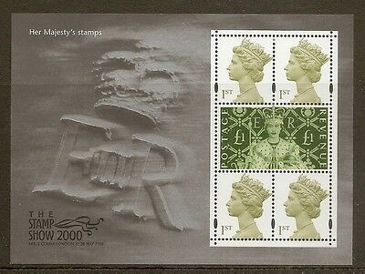 GB 2000 The Stamp Show - Her Majesty's Stamps Min.Sheet MNH
