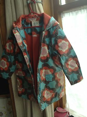 Mini Boden Girls Floral  Winter Coat Age 5-6 Years